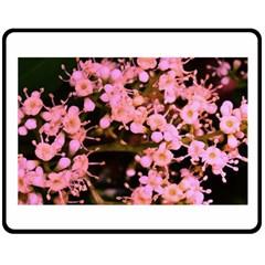 Little Mauve Flowers Double Sided Fleece Blanket (medium)