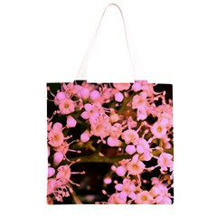 Little Mauve Flowers Grocery Light Tote Bag