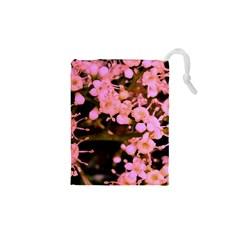 Little Mauve Flowers Drawstring Pouches (XS)