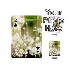 Little White Flowers Playing Cards 54 (mini)