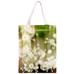 Little White Flowers Classic Light Tote Bag