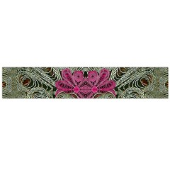 The Last Peacock In Metal Flano Scarf (Large)