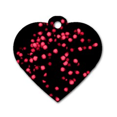 Little Pink Dots Dog Tag Heart (one Side)
