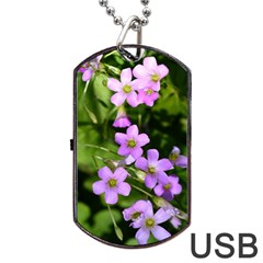 Little Purple Flowers Dog Tag Usb Flash (two Sides)