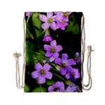 Little Purple Flowers Drawstring Bag (Small) Front