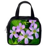 Little Purple Flowers 2 Classic Handbags (2 Sides) Back