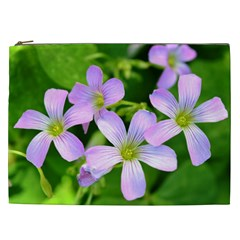 Little Purple Flowers 2 Cosmetic Bag (xxl)