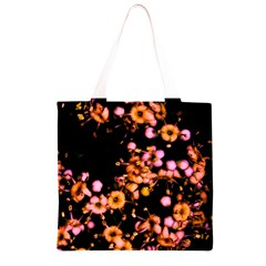 Little Peach and Pink Flowers Grocery Light Tote Bag