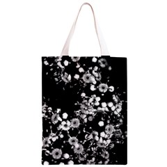 Little Black and White Flowers Classic Light Tote Bag