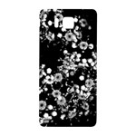 Little Black and White Flowers Samsung Galaxy Alpha Hardshell Back Case Front
