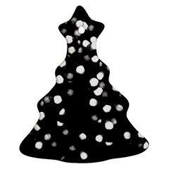 Little Black And White Dots Christmas Tree Ornament (2 Sides)