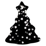 Little Black and White Dots Christmas Tree Ornament (2 Sides) Front