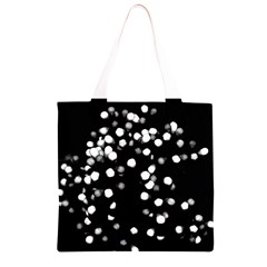 Little Black and White Dots Grocery Light Tote Bag