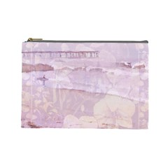Peachsurforchidcurtain Cosmetic Bag (large)