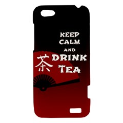 Keep Calm And Drink Tea - dark asia edition HTC One V Hardshell Case
