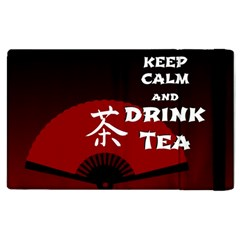 Keep Calm And Drink Tea   Dark Asia Edition Apple Ipad 2 Flip Case