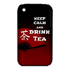 Keep Calm And Drink Tea   Dark Asia Edition Apple Iphone 3g/3gs Hardshell Case (pc+silicone)