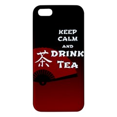 Keep Calm And Drink Tea   Dark Asia Edition Apple Iphone 5 Premium Hardshell Case