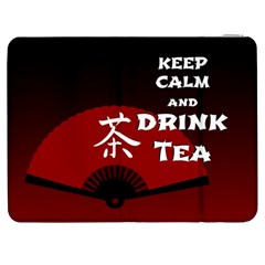 Keep Calm And Drink Tea - dark asia edition Samsung Galaxy Tab 7  P1000 Flip Case