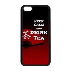 Keep Calm And Drink Tea - dark asia edition Apple iPhone 5C Seamless Case (Black)