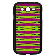 Bright Green Pink Geometric Samsung Galaxy Grand Duos I9082 Case (black)