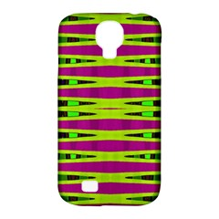 Bright Green Pink Geometric Samsung Galaxy S4 Classic Hardshell Case (PC+Silicone)