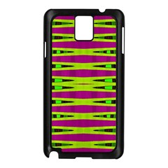 Bright Green Pink Geometric Samsung Galaxy Note 3 N9005 Case (Black)