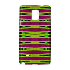 Bright Green Pink Geometric Samsung Galaxy Note 4 Hardshell Case