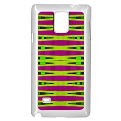 Bright Green Pink Geometric Samsung Galaxy Note 4 Case (white)