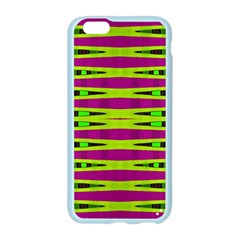 Bright Green Pink Geometric Apple Seamless iPhone 6/6S Case (Color)