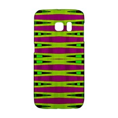 Bright Green Pink Geometric Galaxy S6 Edge