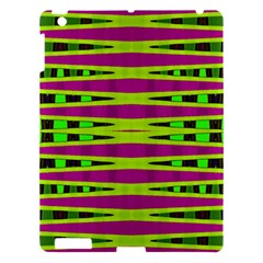 Bright Green Pink Geometric Apple Ipad 3/4 Hardshell Case