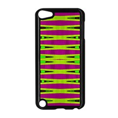 Bright Green Pink Geometric Apple iPod Touch 5 Case (Black)
