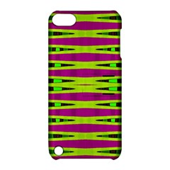 Bright Green Pink Geometric Apple Ipod Touch 5 Hardshell Case With Stand