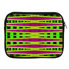 Bright Green Pink Geometric Apple Ipad 2/3/4 Zipper Cases