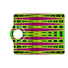 Bright Green Pink Geometric Kindle Fire Hd (2013) Flip 360 Case