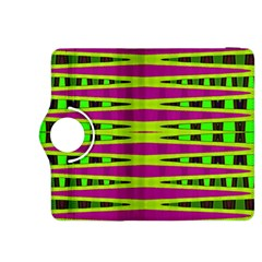 Bright Green Pink Geometric Kindle Fire Hdx 8 9  Flip 360 Case