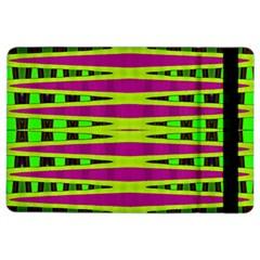 Bright Green Pink Geometric iPad Air 2 Flip