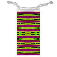 Bright Green Pink Geometric Jewelry Bags