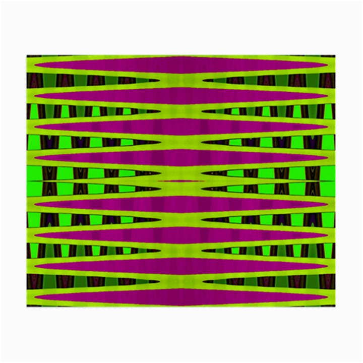 Bright Green Pink Geometric Small Glasses Cloth (2-Side)