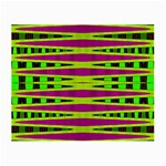 Bright Green Pink Geometric Small Glasses Cloth (2-Side) Back