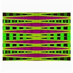 Bright Green Pink Geometric Large Glasses Cloth