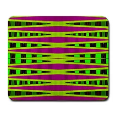 Bright Green Pink Geometric Large Mousepads