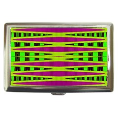Bright Green Pink Geometric Cigarette Money Cases