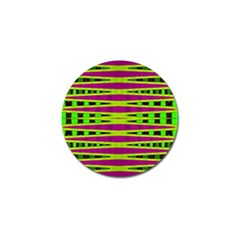 Bright Green Pink Geometric Golf Ball Marker (10 Pack)