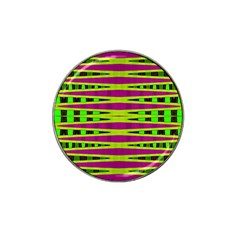 Bright Green Pink Geometric Hat Clip Ball Marker
