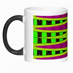 Bright Green Pink Geometric Morph Mugs