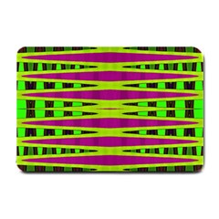 Bright Green Pink Geometric Small Doormat