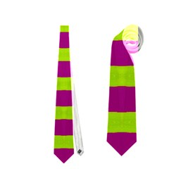 Bright Green Pink Geometric Neckties (one Side)