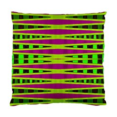 Bright Green Pink Geometric Standard Cushion Case (two Sides)